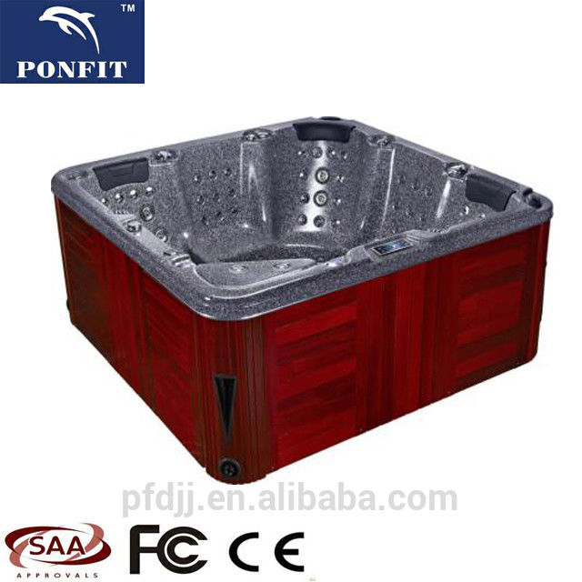 Relax Freestanding Whirlpool Tub 2200*2200*900MM With Corner Drain Location