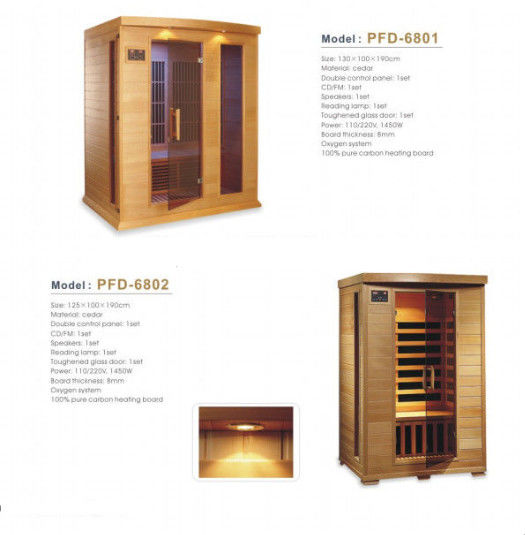 Luxury Solid Wood Portable Sauna Room 3 People Cedar Material For Relaxing